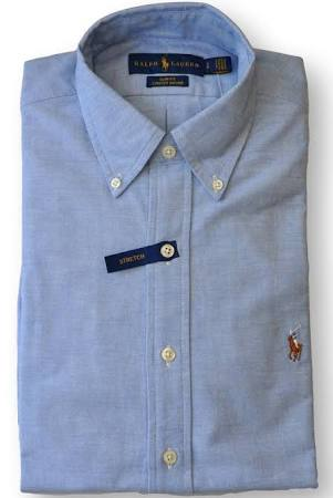 Stretch Azul Ralph Fit Slim Hombres Lauren Regular Shirt Grande Azul Oxford Polo Sport wtSxRR