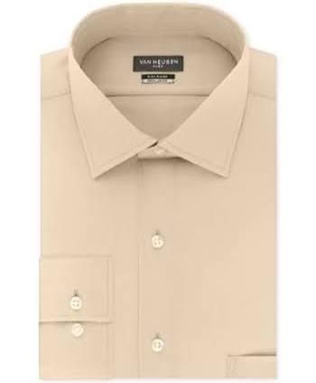 33 18 Van Heusen Männer Beige Slim Fit Hellbraun Flexkragenhemd Für 32 x1wq7nvU