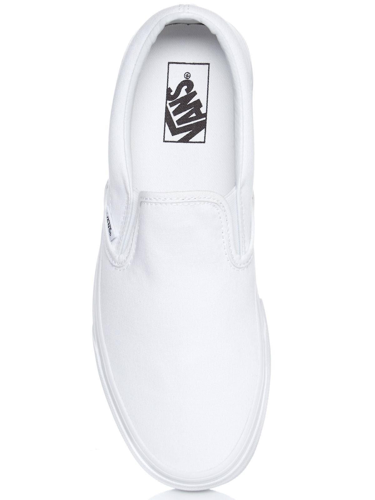 Uk Classic Truewhite Canvas On 9 Slip Vans Blanco Tamaño Color 0adq0T