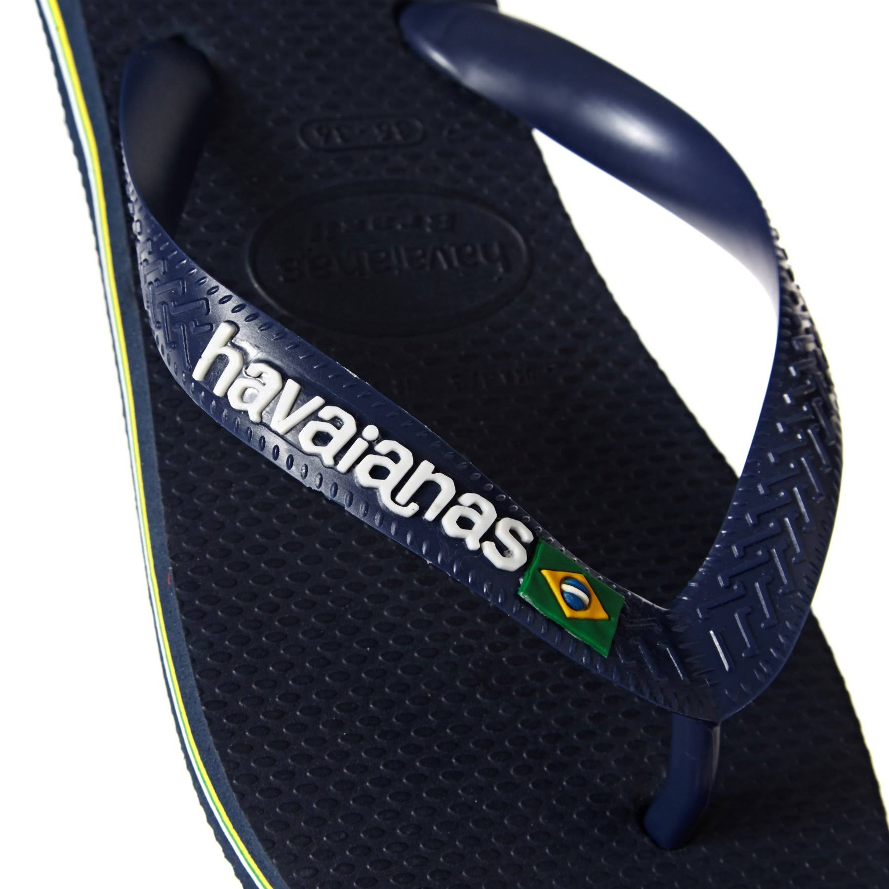 Uk Shoestore Brasil Womens Havaianas Flops Navy Logo Blue Flip 5 8wqdSw