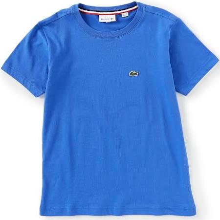 shirt T Lacoste Jungen Rundhalsausschnitt Jungen Mit Für Blau T8xEx
