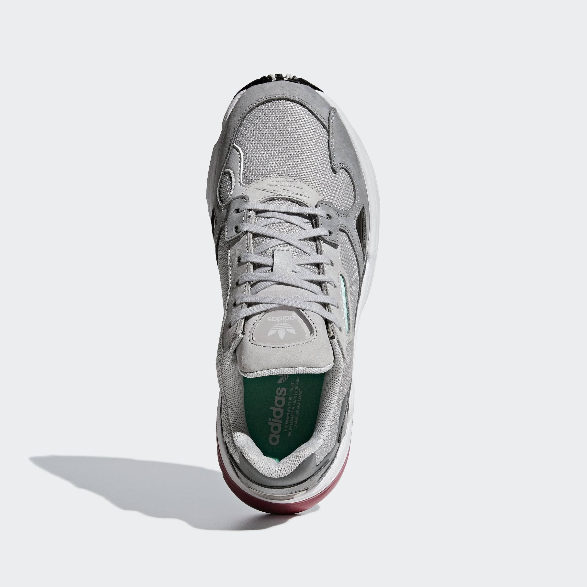 Shoes 6 Red Adidas Maroon Falcon Mujer Gris Trace axpUwzq