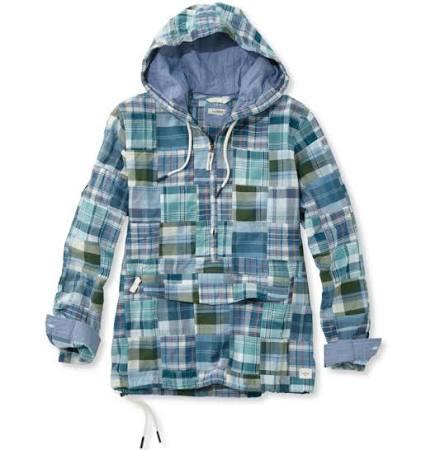 Damen Patchwork Pullover bean Blau L Vacationland Langarm Anorak l Für Medium 6ISyxtR