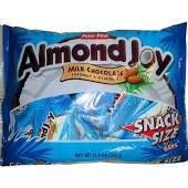 Almond Joy Halloween Snack Size Bars - 12 bag case