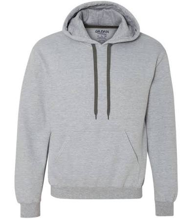 92500 16 Sweatshirt Kapuze Mit Gildan Unze Grau Größe L nU6YqEqw