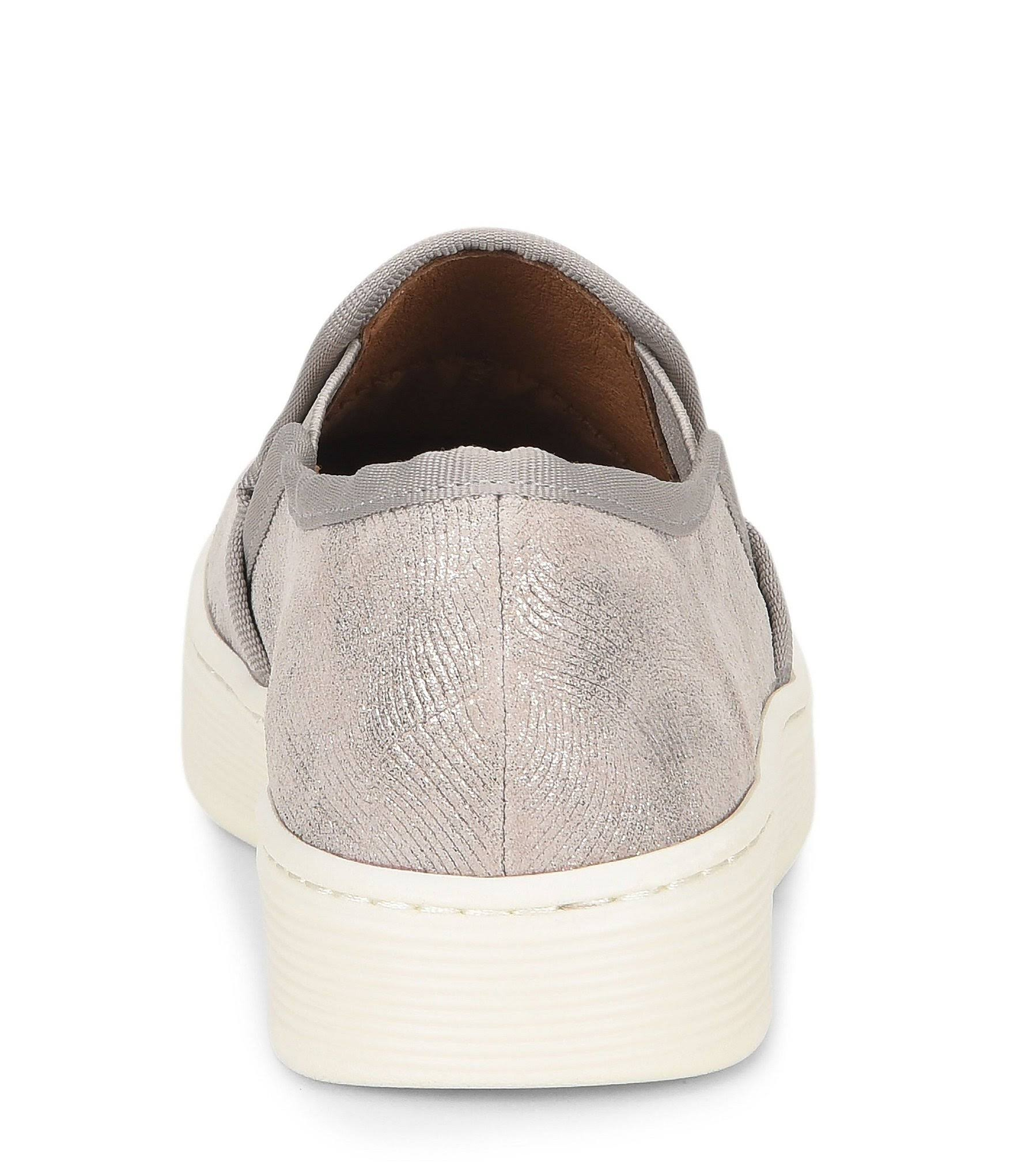On 9m Leather Goat Womens Slip movida Grey Mist Sneakers Somers Grey Metallic Sofft platino qEw0IT