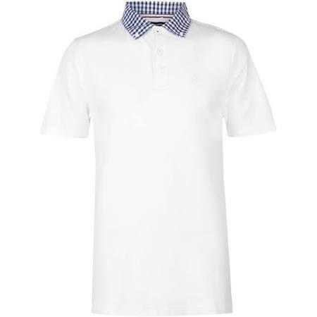 Xl Herren Für Poloshirt Kariertes Größe Weiß Kangol wXpHqztx