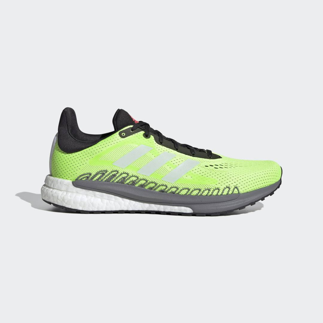 Adidas Solar Glide 3 Running Shoes - Green - 9