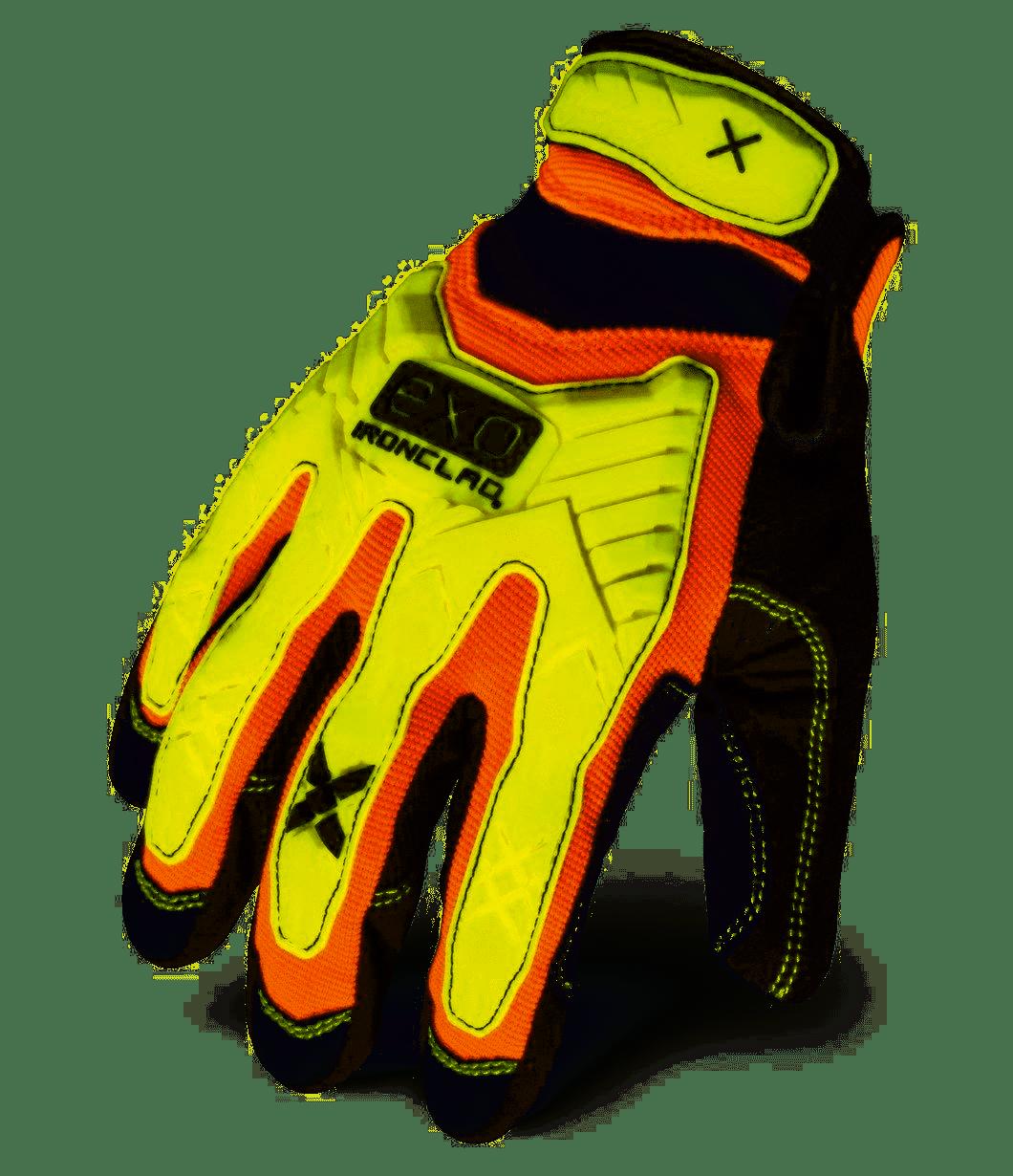 IRONCLAD EXO Hi-Viz Impact Gloves MEDIUM