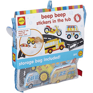 Alex Bath Beep Beep Stickers in The Tub Bath Toy Kids Bath Activity