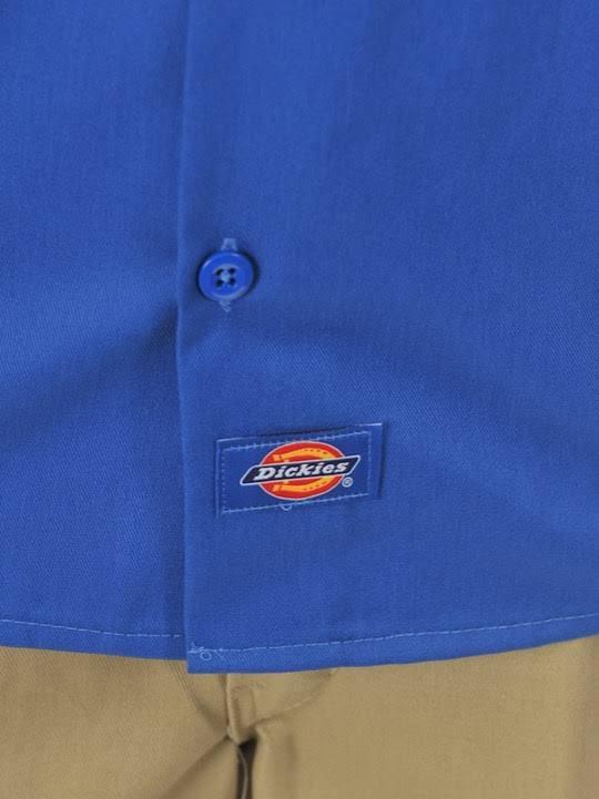 Hombres 1574 Corta Azul Camisa Manga Trabajo Real Para De Dickies 2xl OnwCnUAqXx