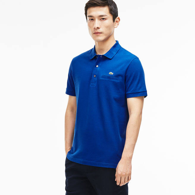 Polo Fit Herren Blau Regular Lacoste Awvqt7X