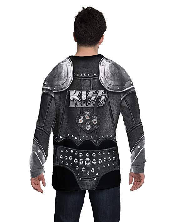 Kiss Camiseta Demon Faux Metal The Manga Music Larga F152419 Traje Real Heavy De PqPx5tH