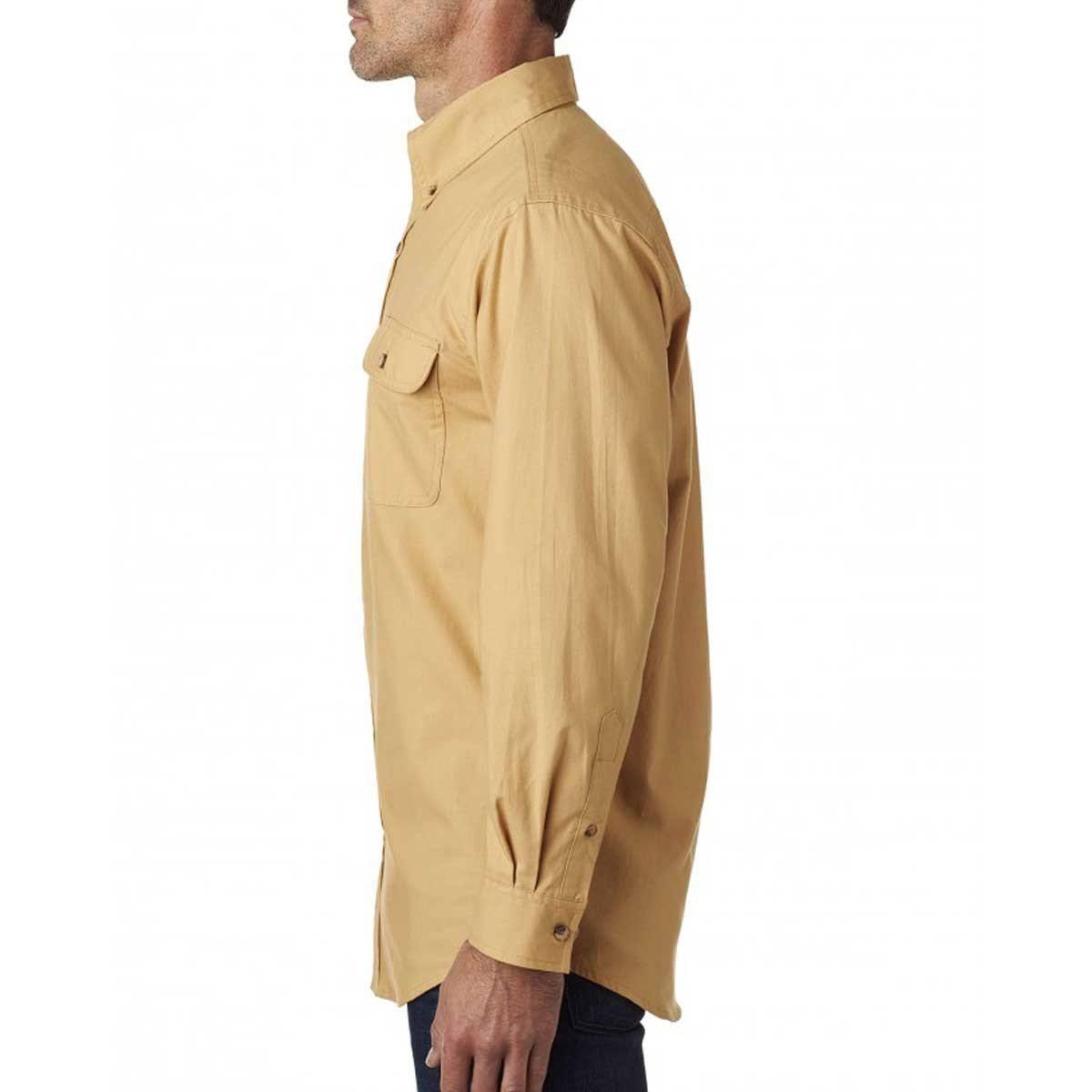 Hombre Backpacker De 2xl Para Bp7005 Maíz Sólida Franela Camisa Ifx7wRvf