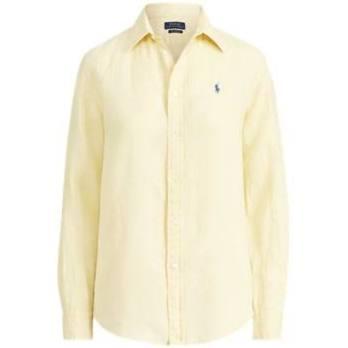 Talla Relajada Camisa De Lino Forma Ralph Lauren Yellow Wicket En L wd0Irqnd