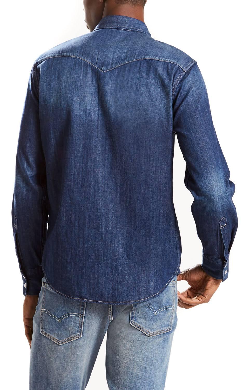 Denim Barstow Blue Levis Western Carbon Shirt Dark qPgxvagOnE