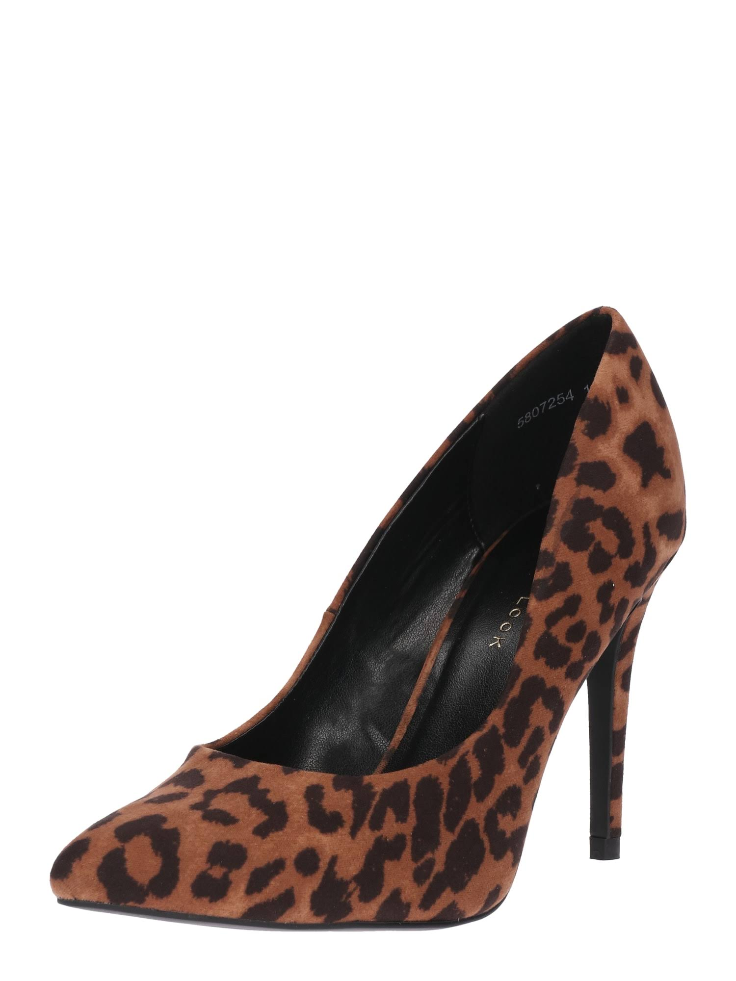 Brown Print New With Leopard LookPump cAj5LqR34
