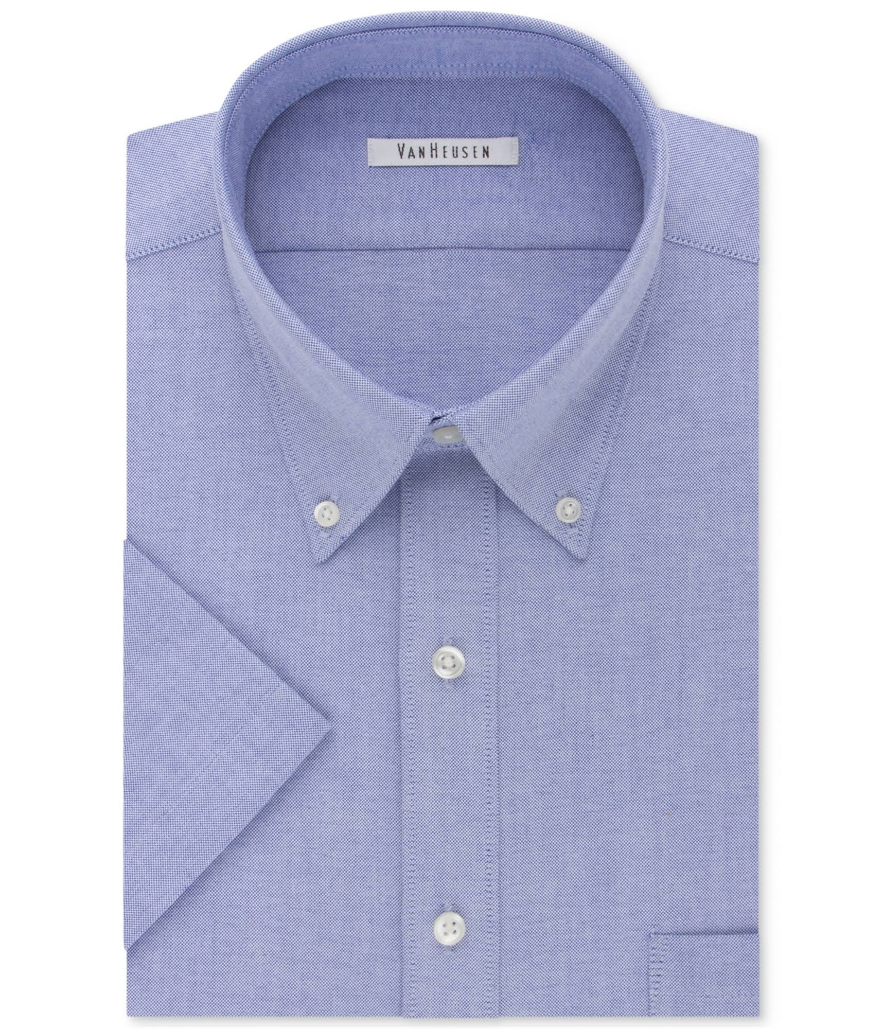 Camisa Con Y Botones Vestir Hombre De Oxford Para 16½ Van Heusen 1fqx1pwCa