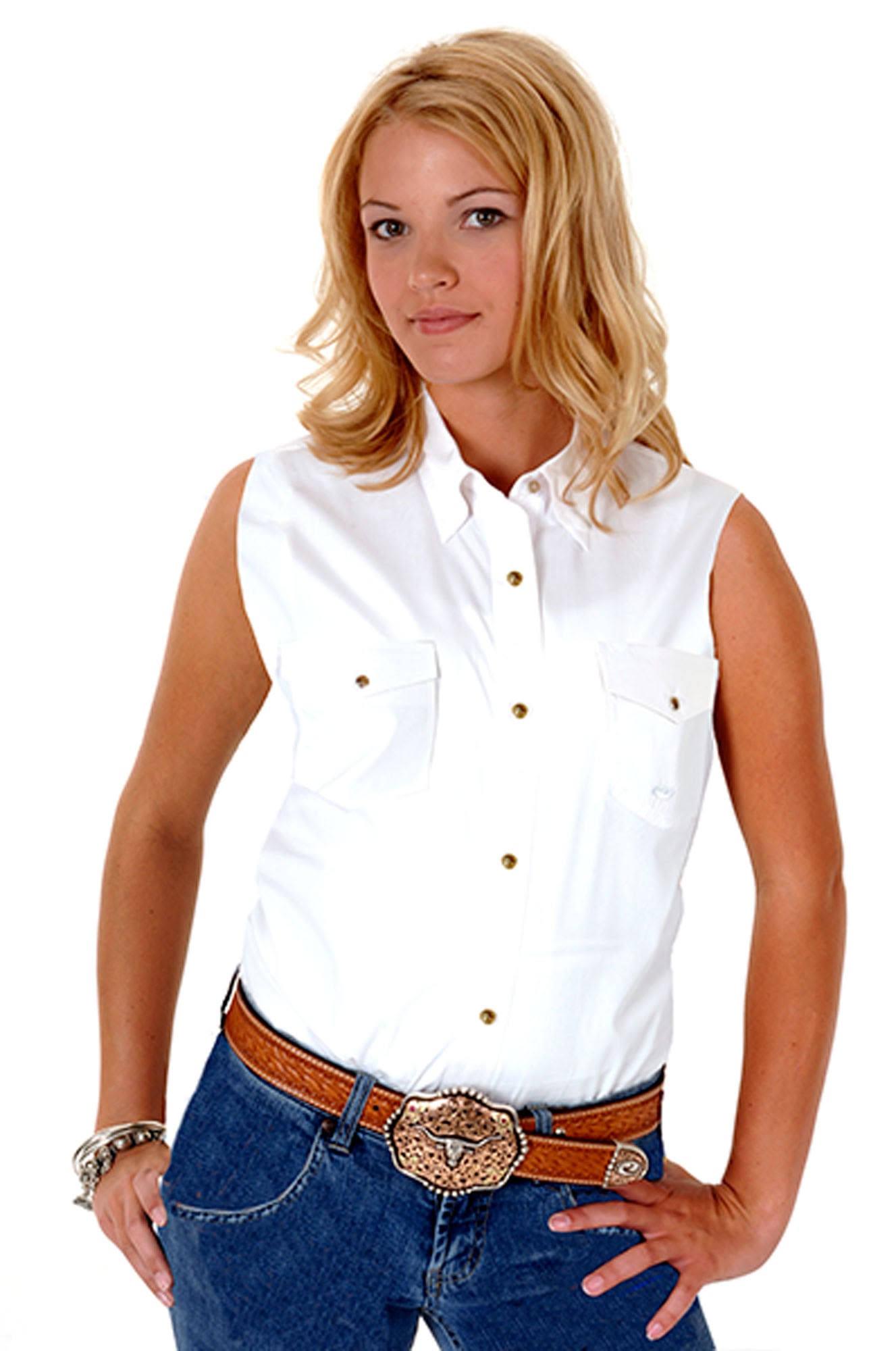 052 Western Seeveess 0025 Womens 03 Roper 0265 White Shirt Wh X7x7H