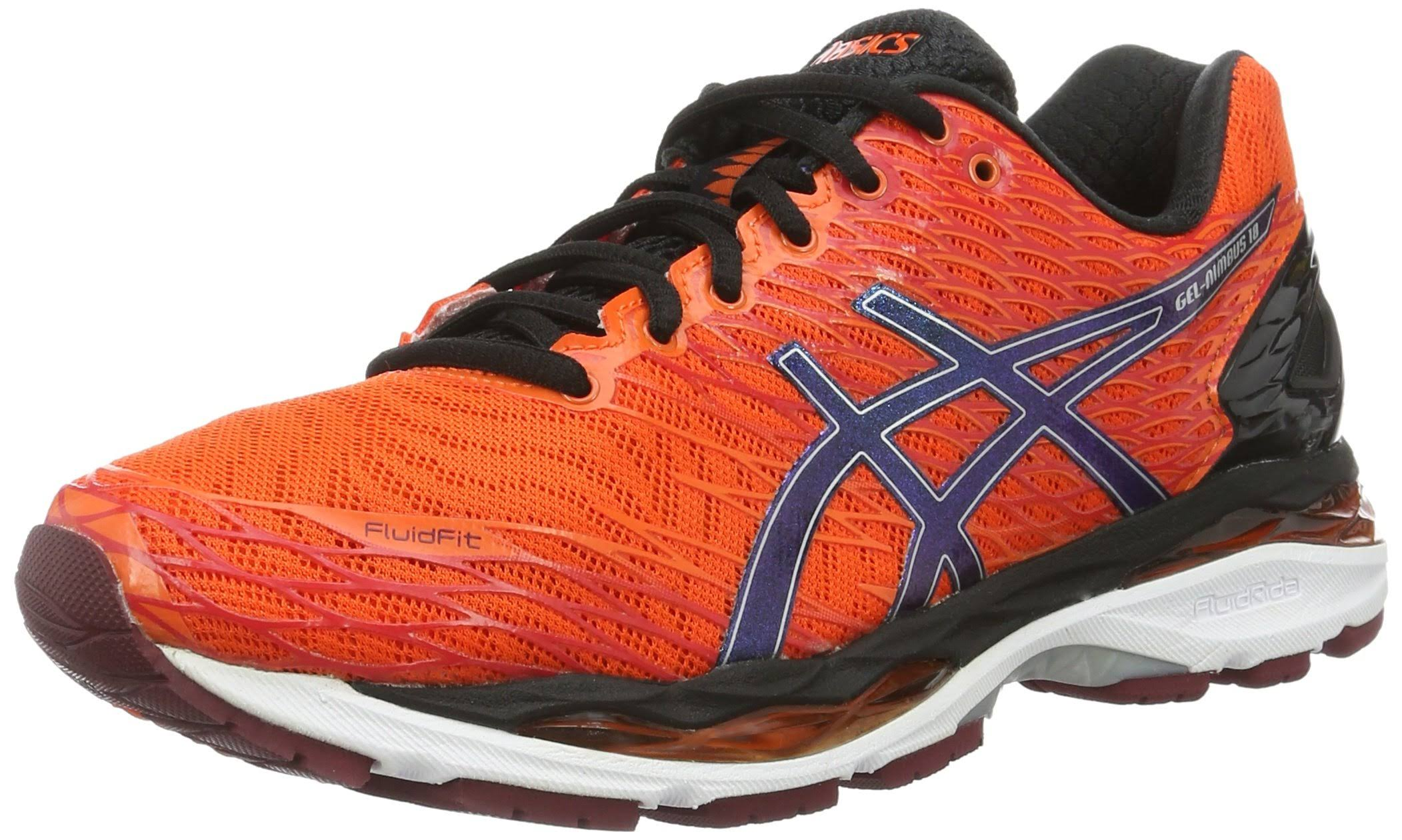 Gel Laufschuh Black Orange flame Men Orange silver black Asics Nimbus 18 U7dtn0wq1