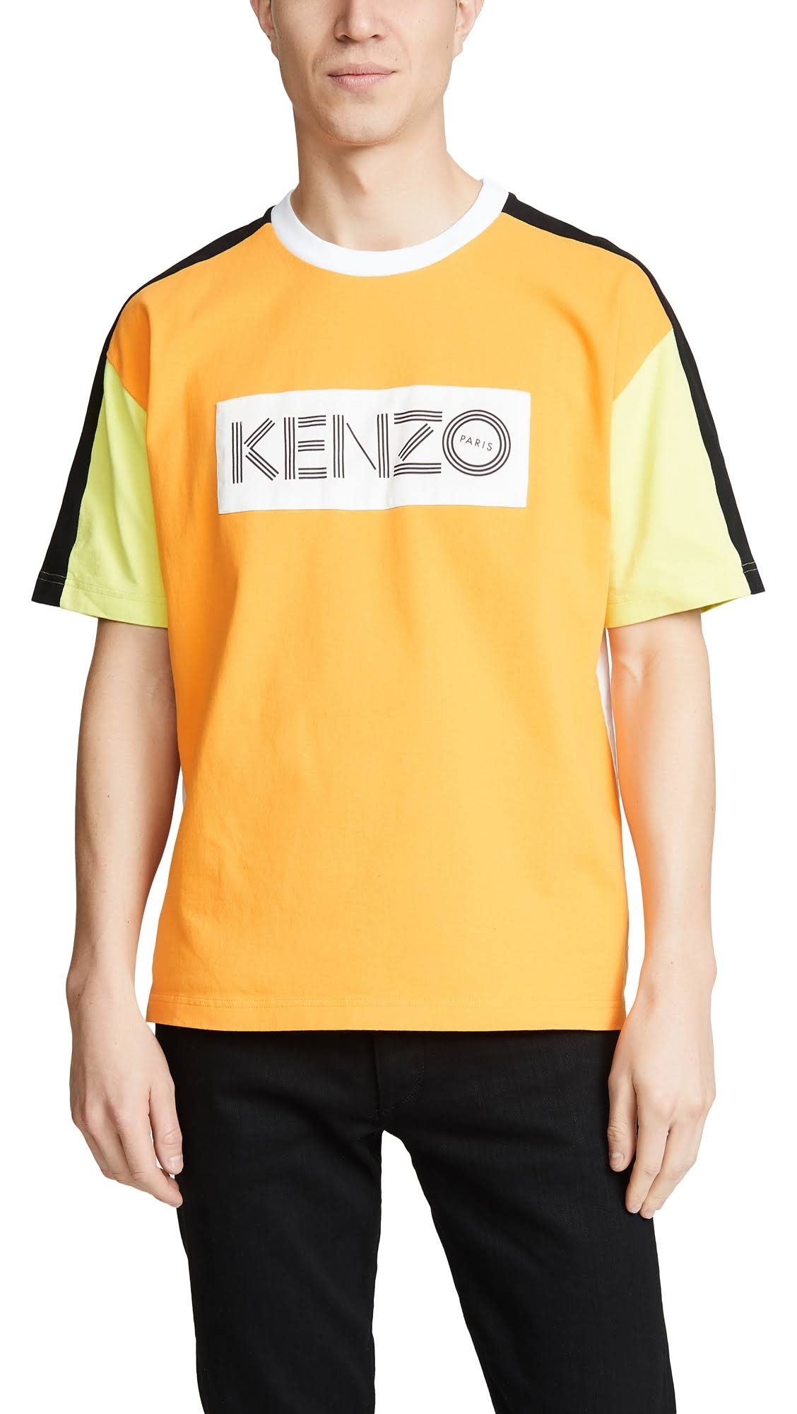 Logo shirt Colorblocked Weißes T Orange Und Kenzo RqIaY