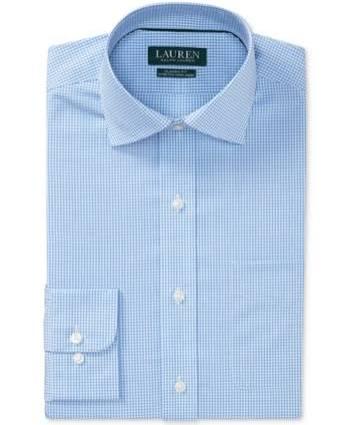 36 Lauren Classic 17 Fit 37 Blau Ralph Baumwollhemd Stretch Männer 8wPWvqr8