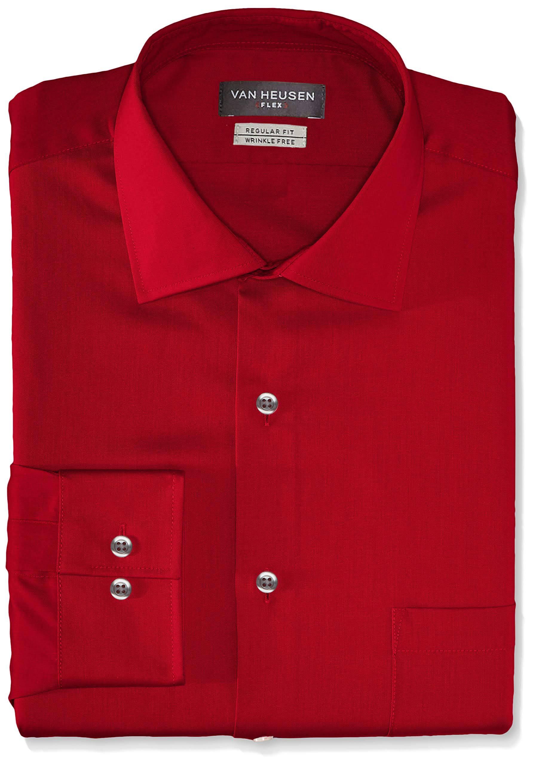 Flex Vestir Regular Fit Hombre De Heusen Camisa Solid Van Para Yvqw5