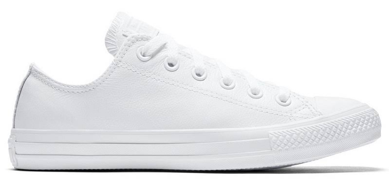 Chuck Star Monochrome Leather Converse White Taylor Top Low Open All 4R6dwn