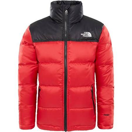 M Down Chaqueta Rojo Nuptse The North Face Chicos UqYgpg