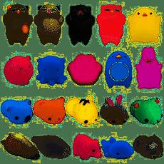 zacht Squishies Squishy Toy Knijpspeeltjes Dieren Series Mini Stress en angst Relief Glitterglans Mochi Voor Kinderen Volwassenen Jongens en meisjes L