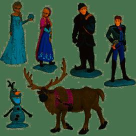 6 pièces/ensemble reine Elsa princesse Anna Hans Kristoff Sven Olaf PVC figurines jouets jouets