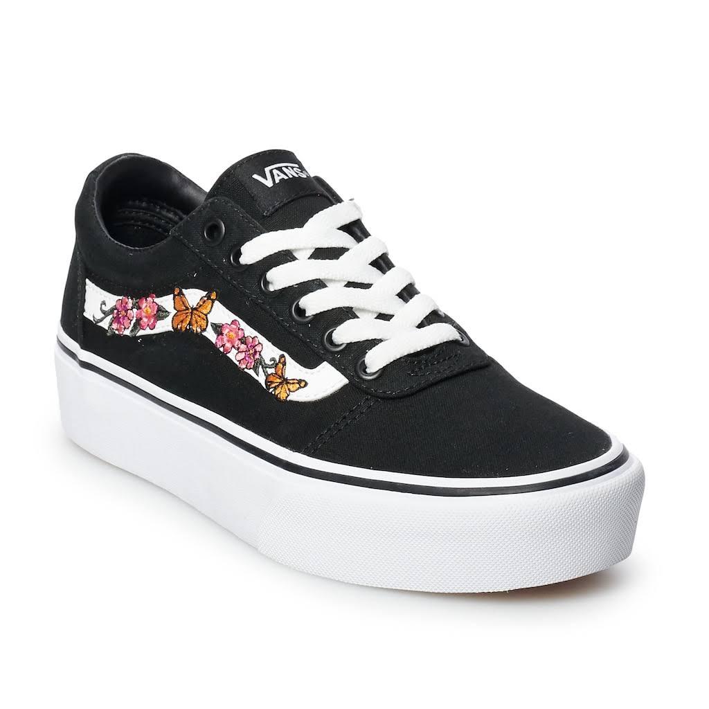 Zapatillas Negro Mujer Skate Ward 7 Para De Vans 5 Tamaño nSrawUnOPx