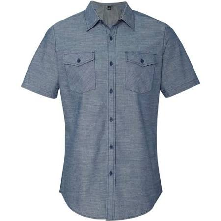 Chambray Burnside Kurzarmhemd Denim Light B9255 2xl Twq5A