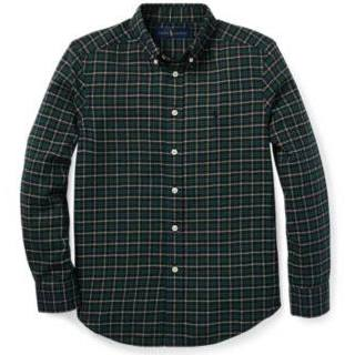 Talla Sarga De Multi A Green Algodón Cuadros Ralph In M Lauren Camisa f0wqnWF1