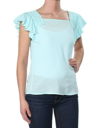 Sleeve Para Light Maison Cap Blue Top Xs Jules Mujer 59 2071 Ruffled B xRR6Uzw