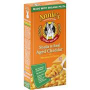 Annie's Homegrown Macaroni & Cheese, Shells & Real Aged Cheddar - 6 oz box