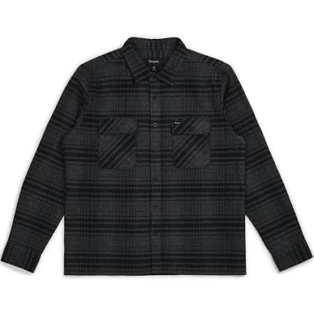 Xxl L Flannel Archie Black Brixton S heather charcoal 5tqxw0