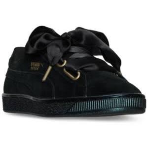 Womens Negro Suede Heart 03 Puma black 362714 7 zwqWw0gd