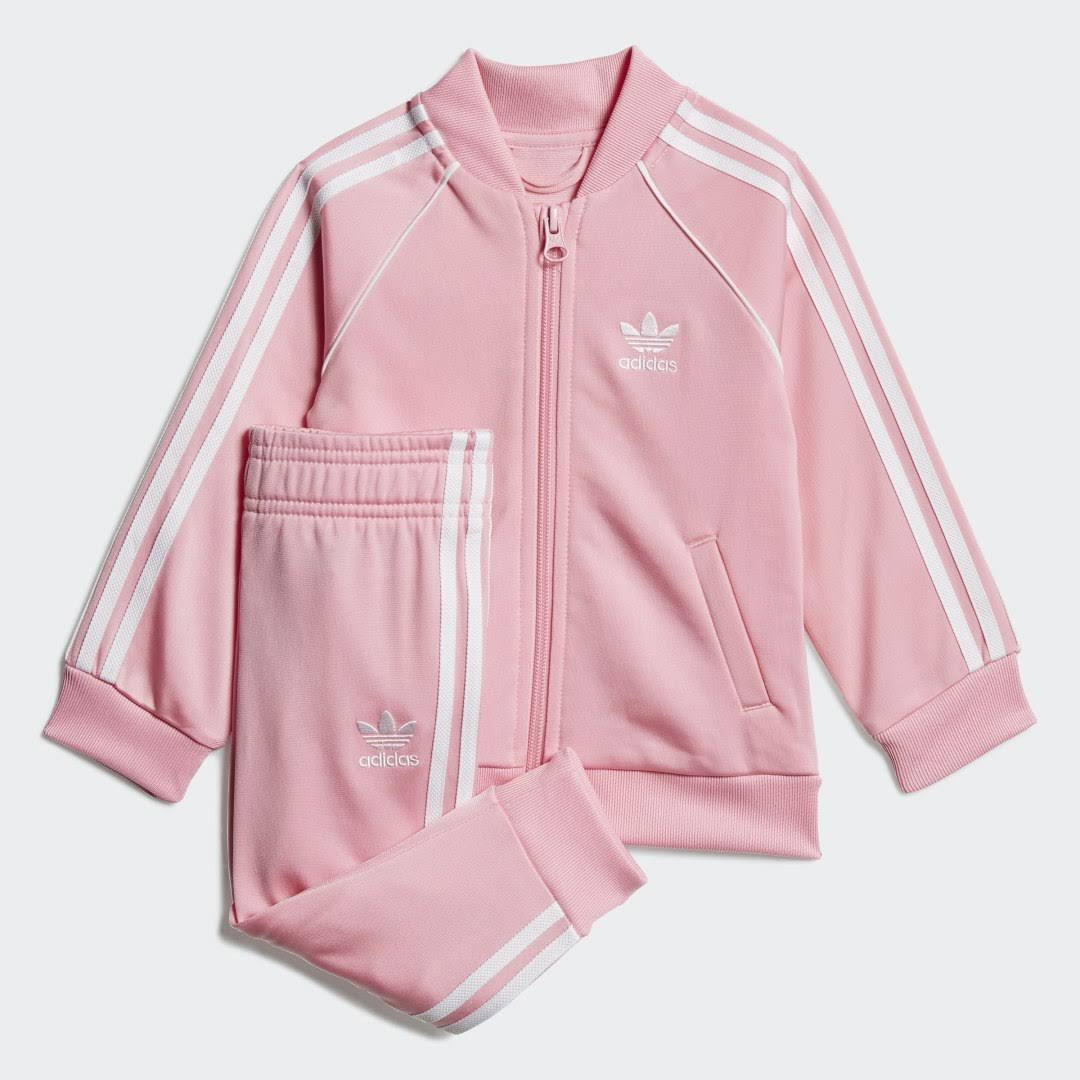 Adidas SST Tracksuit - Kids - Light Pink / White - 18-24m