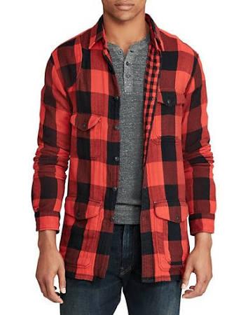 Rojo Trabajo Clásico Polo Tamaño Cuadros Pequeño De Corte Ralph Camisa Lauren xgWqF8w1H