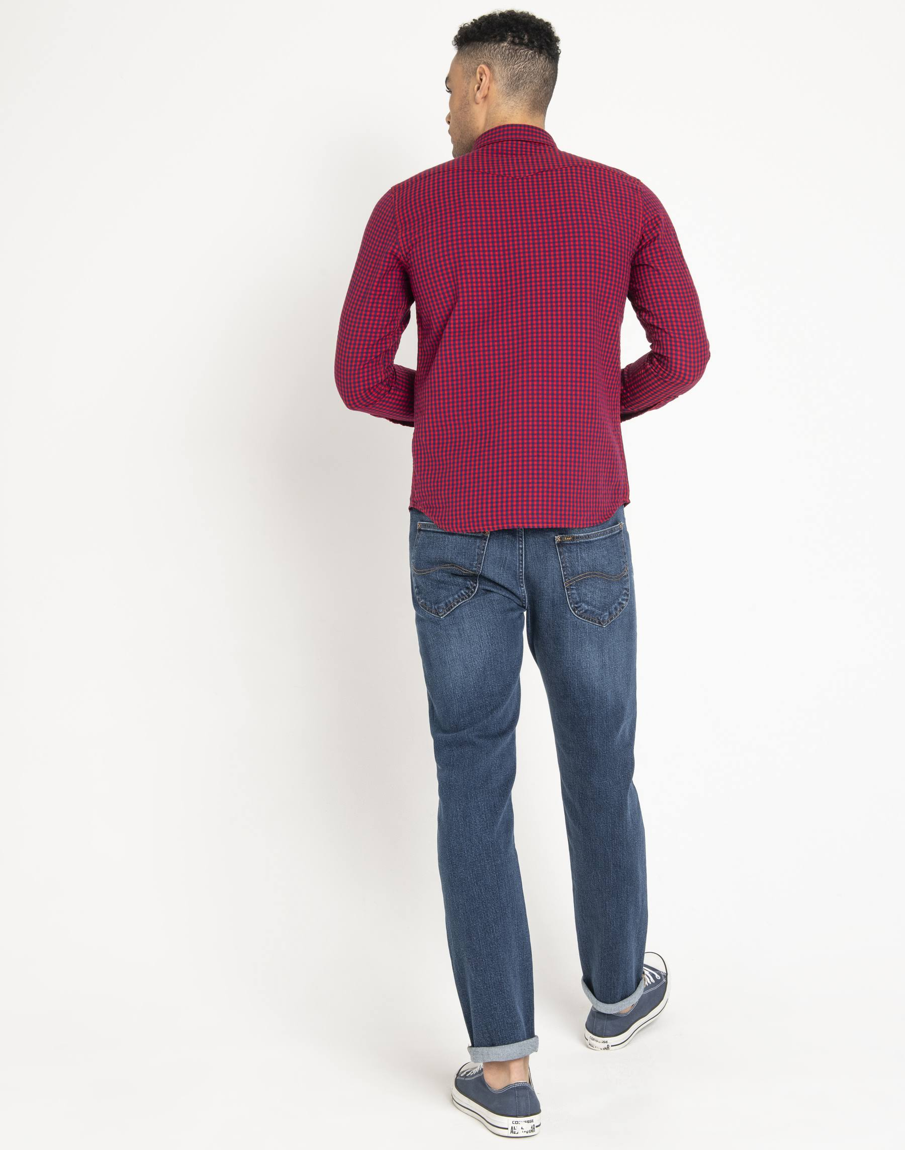 Western L Shirt Lee Rojo Talla Hombre Brillante dYw5qw