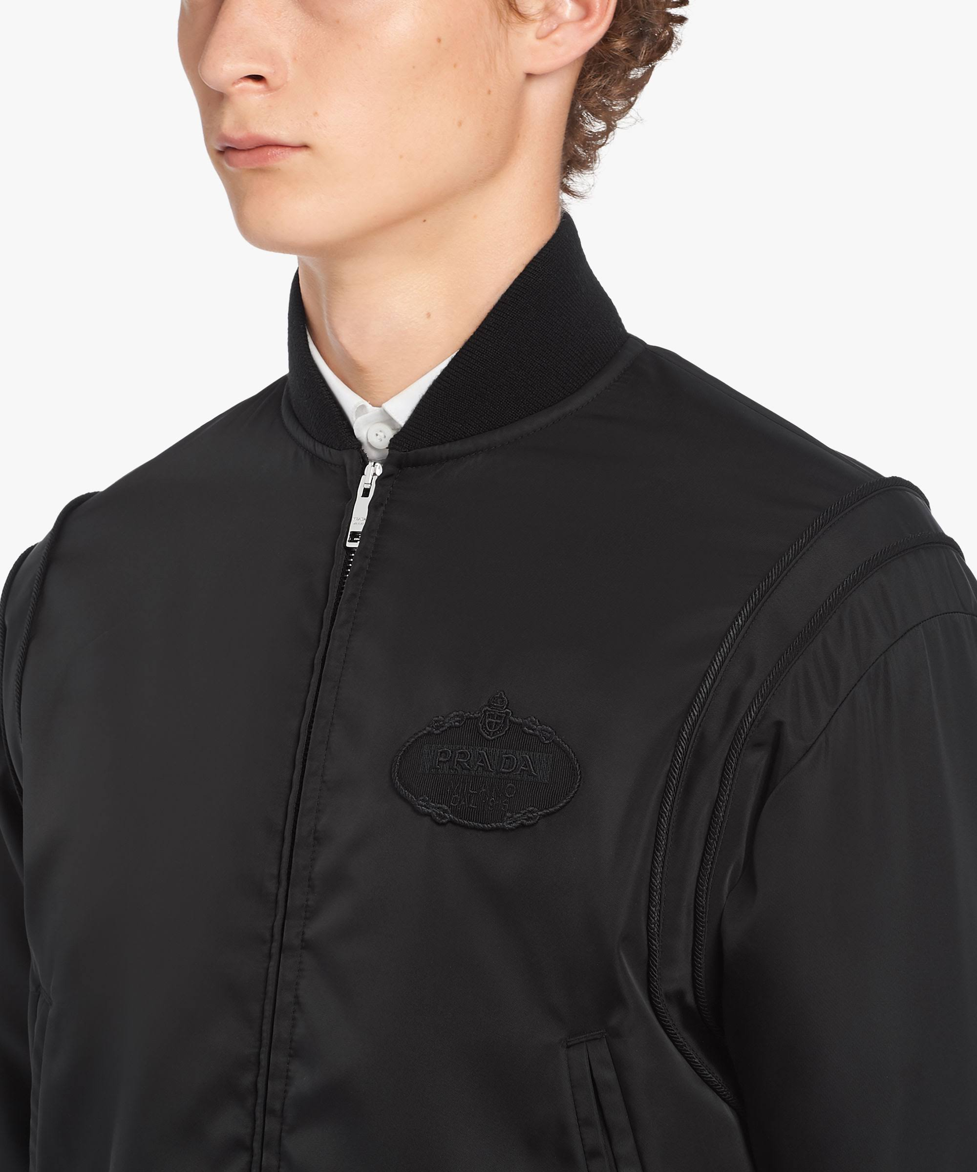 Jacket Bomber Gabardine Gabardine Black Jacket Prada Bomber Prada Black OxwSqzwd