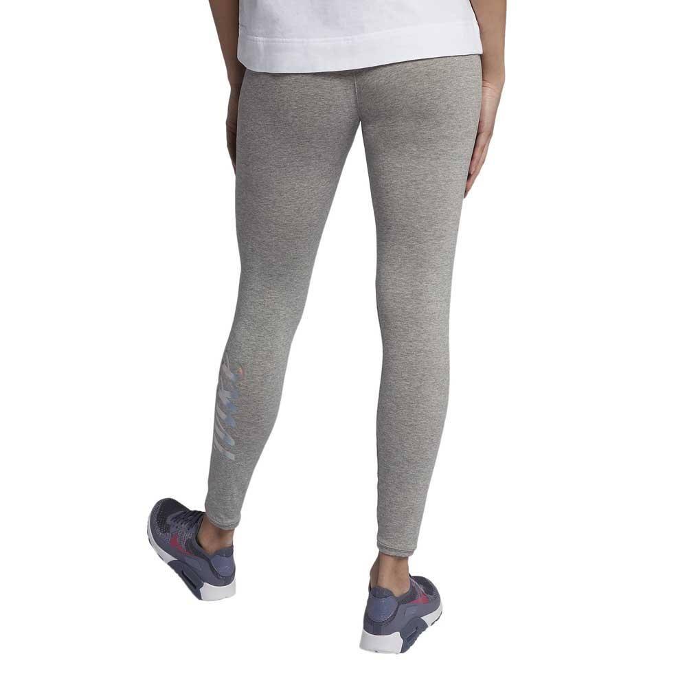 Nike Legging Metallic Women Grey Leggings Cotton, Polyester, Elastane