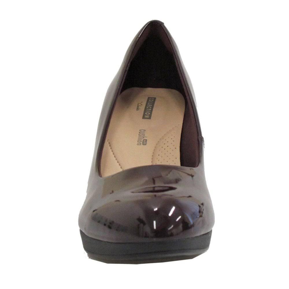 26136380 Adriel Aubergine Patent Clarks Viola Shoes Court Womens bfmIy7Y6vg