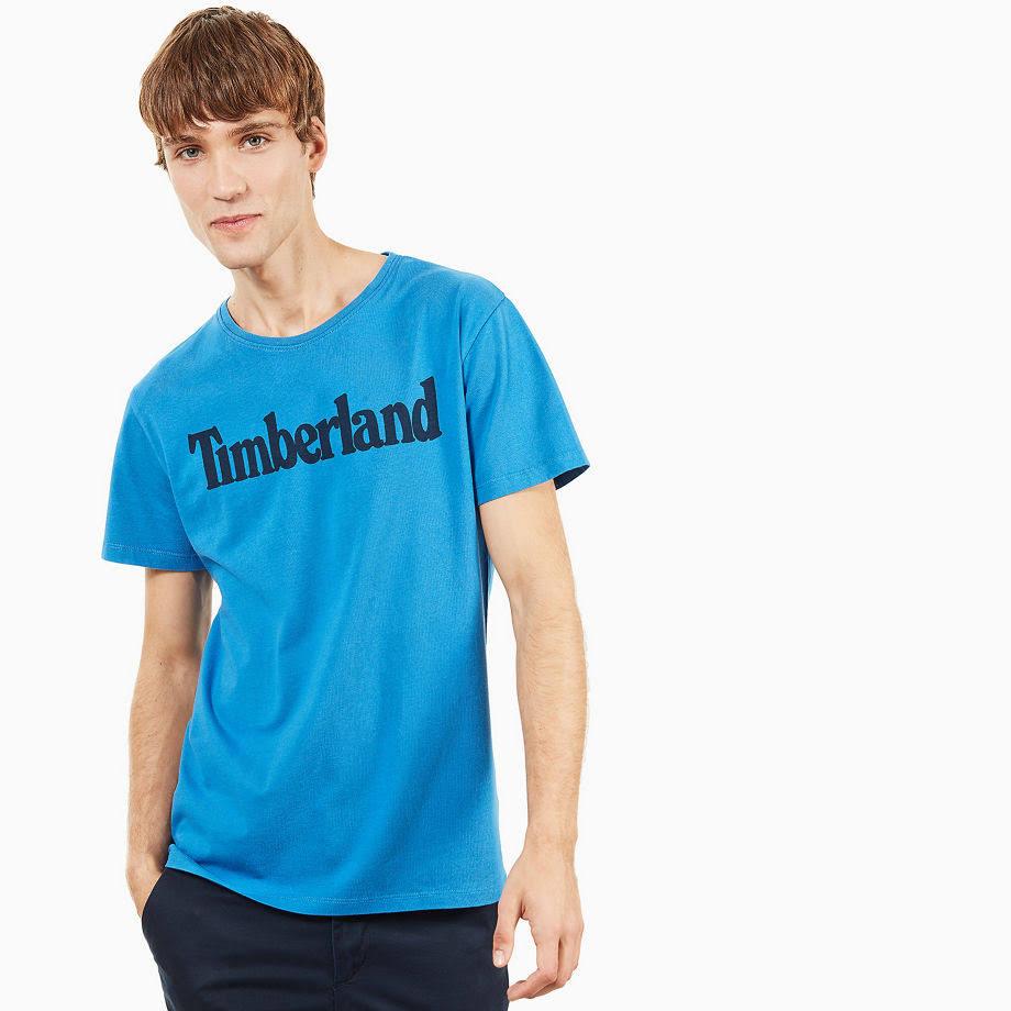 Linear Strongblue River Hombre Timberland Logo Camiseta Talla En S Para Azul Azul Kennebec FgqwOx1