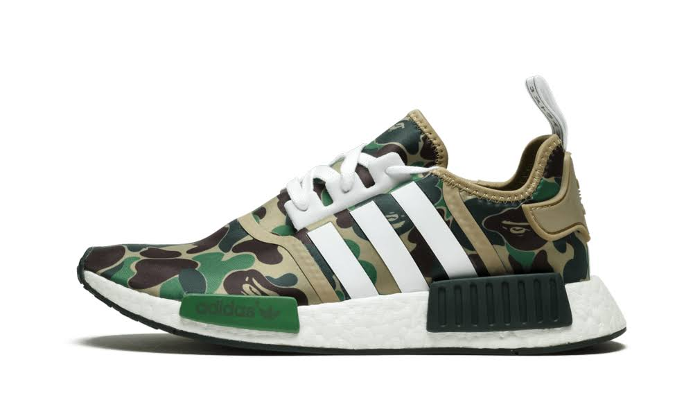 Adidas NMD R1 'Bape - Green Camo' Shoes - Size 8