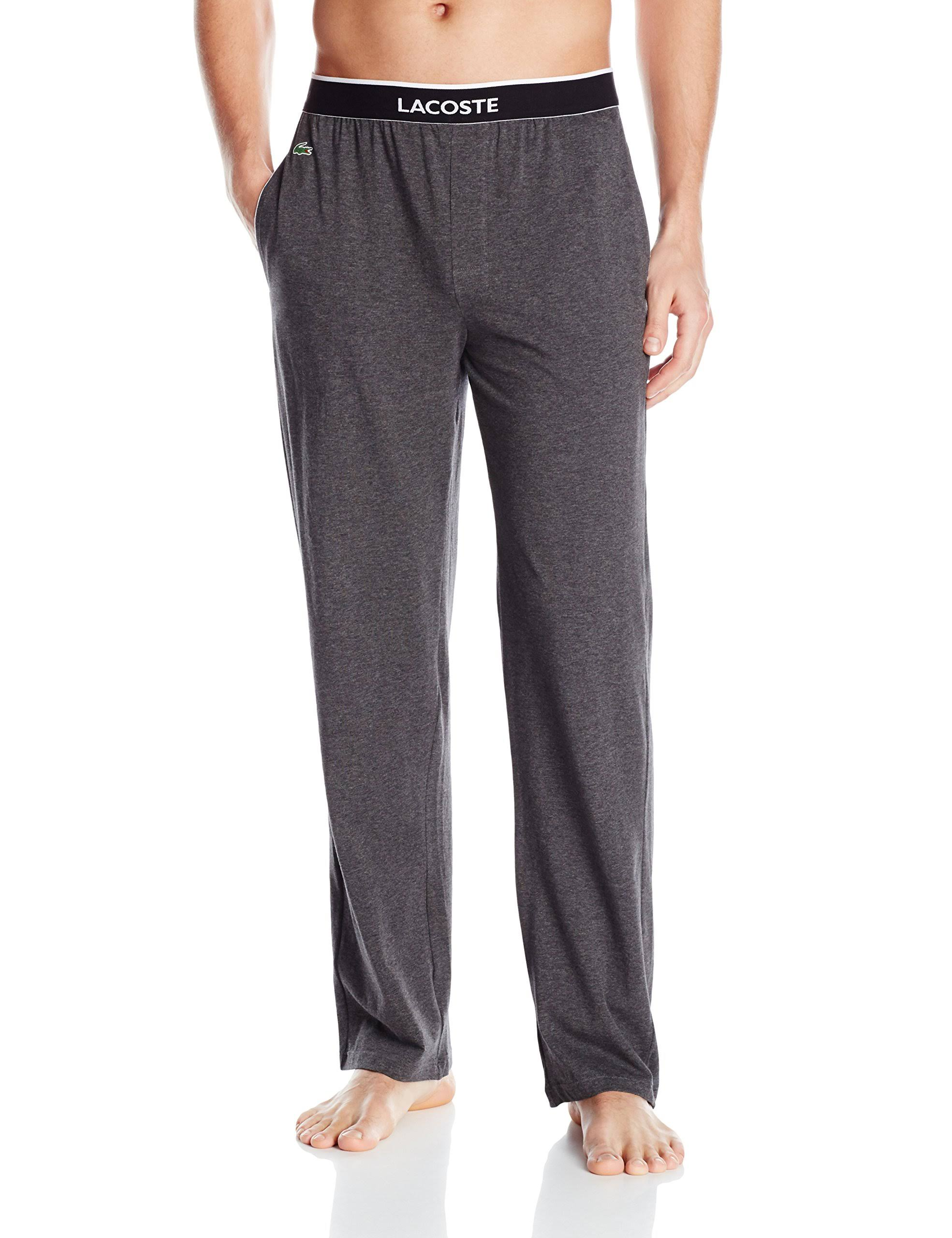 4 Lacoste Hombre Charcoal S Para Euros Pijama Pantalón Solid B0qwWdgX77