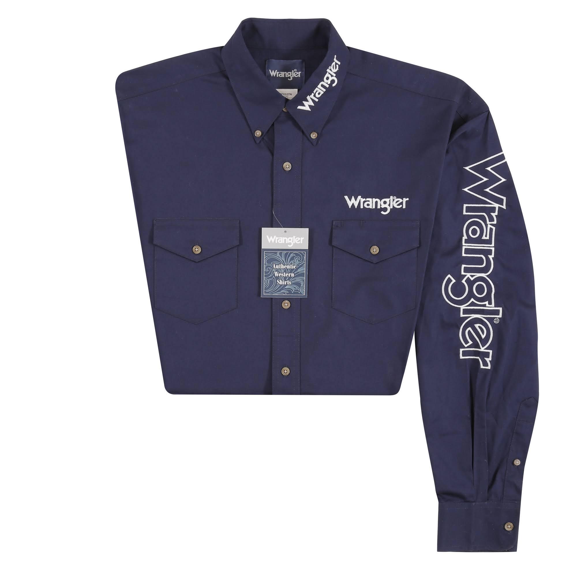 Wrangler Regular Navy Logo Wrangler Logo Shirt R5YwFnq