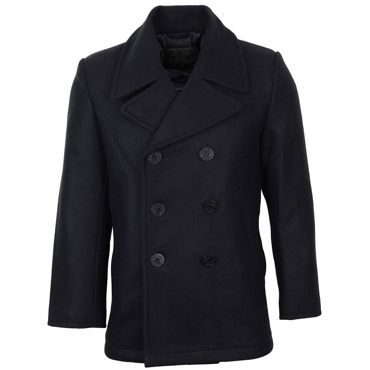 Mil Us Pea Navy M Schwarz Coat tec Größe tUtw5r