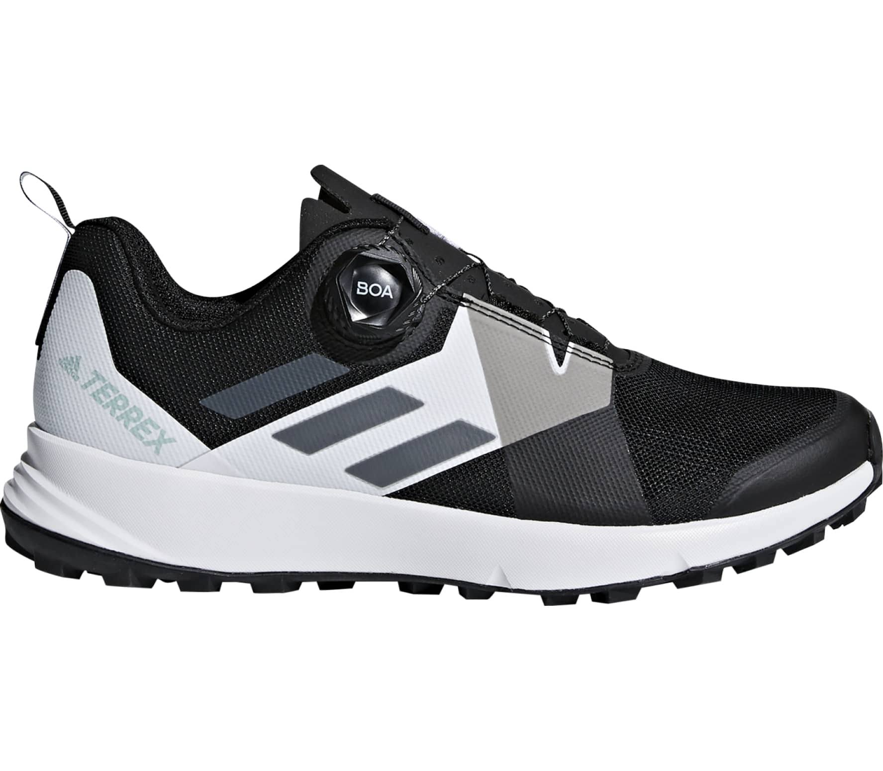 Adidas Terrex Two Boa Women's Trail Running Shoes - Black - 6.5
